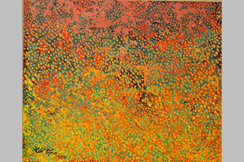 Aldo-Pepe-Il-campo-fiorito-olio-su-tela